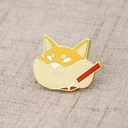 Fat Cat Enamel Lapel Pins