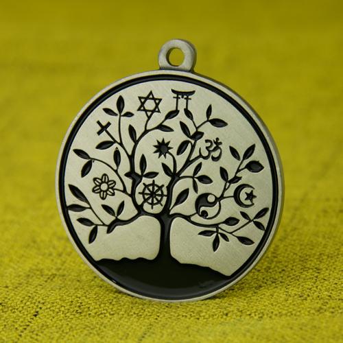 Black Tree Custom Medals