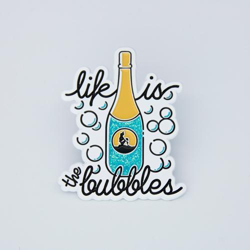 Champagne bottle Lapel pins