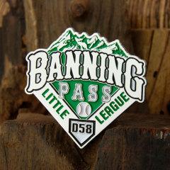 Banning Pass Little League Baseball Pins
