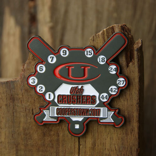 Utah Crushers Baseball Trading Pins