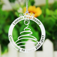 Lincoln First Realty Etched Ornaments