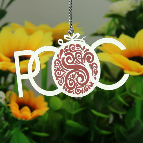 POOC Silver Custom Ornaments