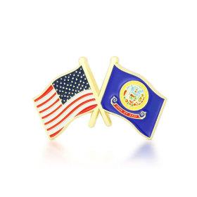 Idaho and USA Crossed Flag Pins