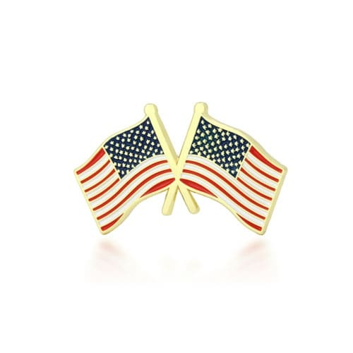 American Flag Cross Lapel Pin