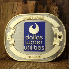 Dallas Water Utilities Belt Buckles