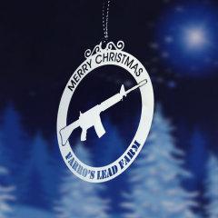 Merry Christmas Custom Ornaments