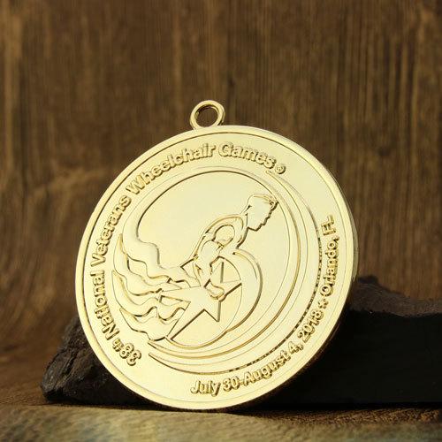 Veterans Wheelchair Games Custom Medals