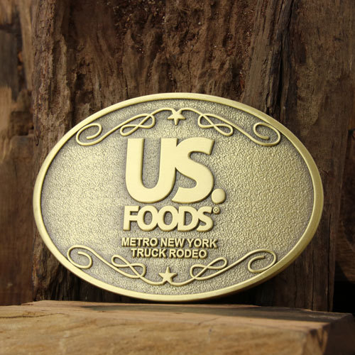 US Foods Brass Belt Buckles