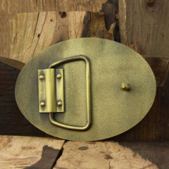Georgia Pacific Brass Belt Buckles