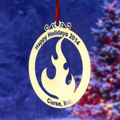 Curse  Etched Ornaments