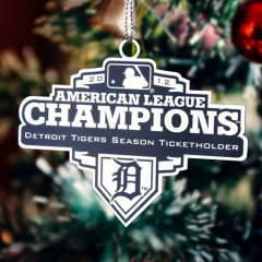Detroit Tigers Custom Etched Ornaments