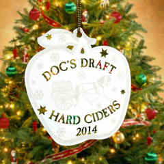 Doc's Draft Hard Ciders Custom Etched Ornaments