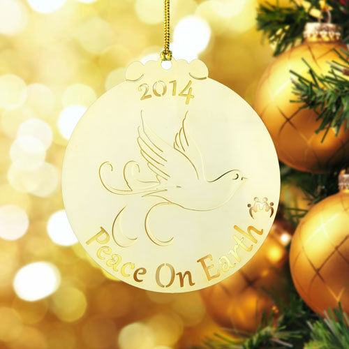 Peace Custom Etched Ornaments