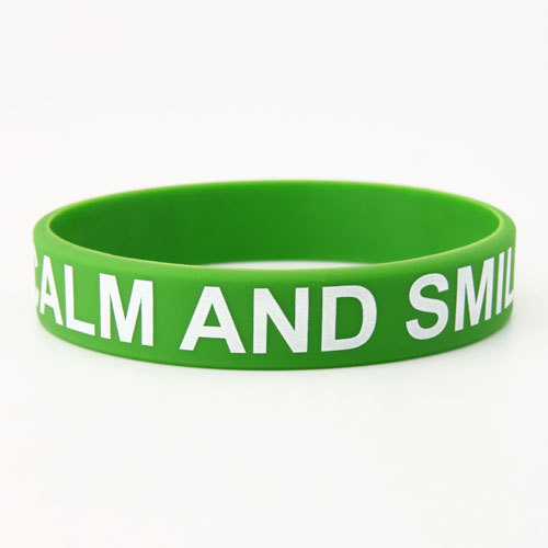 Keep Calm And Smile Custom Wristbands