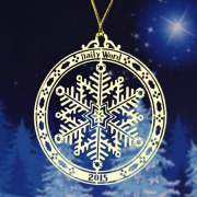 Daily Word Custom Etched Ornaments