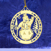 Snowman Etched Ornaments