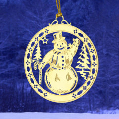 Snowman Etched Ornaments