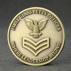 First Class Petty Officer Challenge Coins