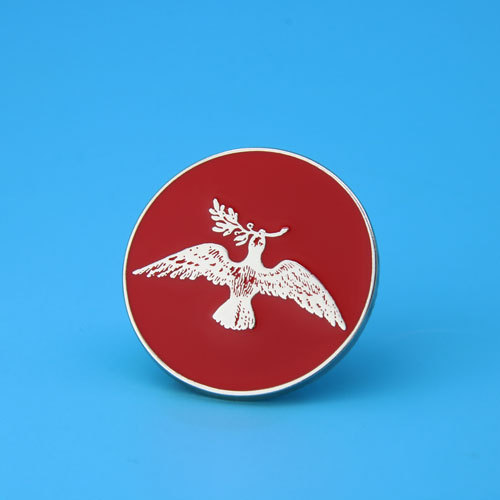 Pigeon And Olive Branch Custom Enamel Pins