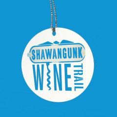 Shawangunk Wine Trail Etched Ornaments