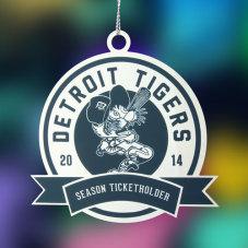 Detroit Tigers Etched Ornaments