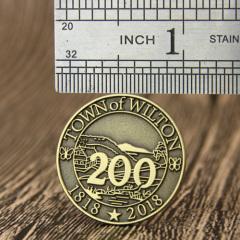 Town Of Wilton Custom Pins