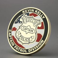 EUCLID Captain Police Custom Coins