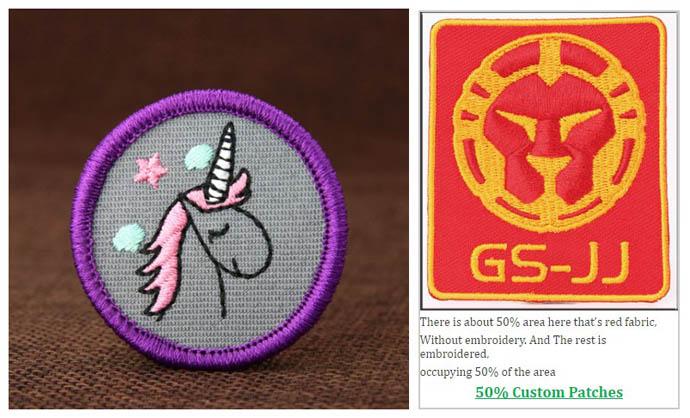 50% custom patches