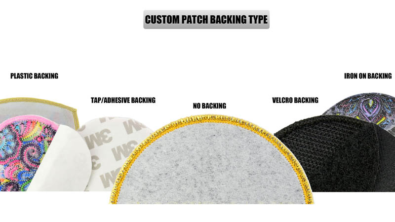 custom patches backing type