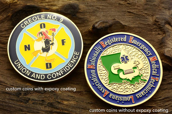 Epoxy vs No Epoxy Custom Coins
