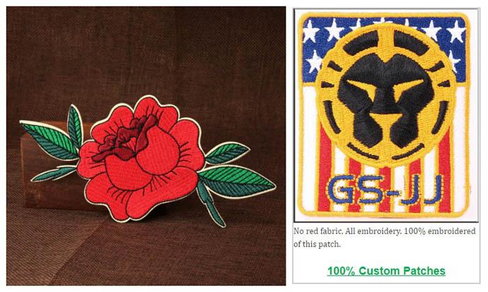 100% custom patches