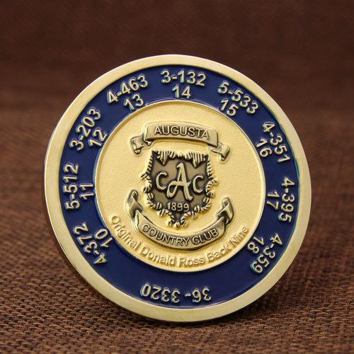Augusta Country Club Custom Coins Cheap