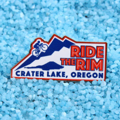 Ride the rim lapel pins