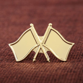 Double Flags Lapel Pins