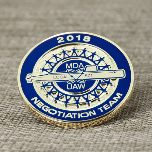 MDA-UAW Local 571 Challenge Coins