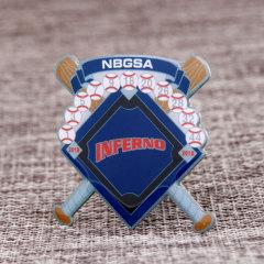 Inferno Baseball Trading Pins