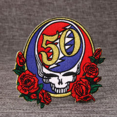 Rose Custom Embroidered Patches