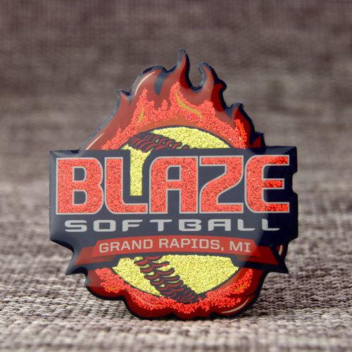 Blaze Softball Trading Pins
