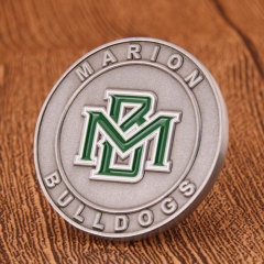Marion Bulldog Athletics Custom Coins