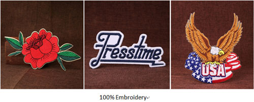 100% embroidery