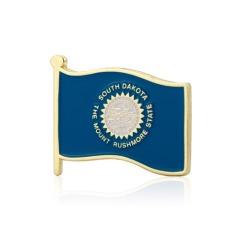 South Dakota American Flag Lapel Pin