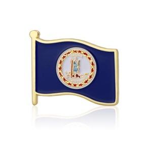 Virginia American Flag Lapel Pin
