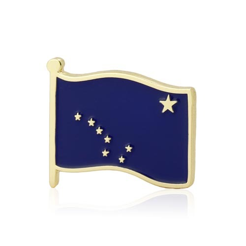 Alaska American Flag Lapel Pin
