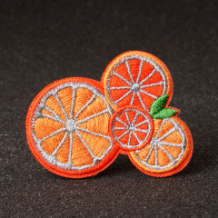 Orange Embroidered Patches