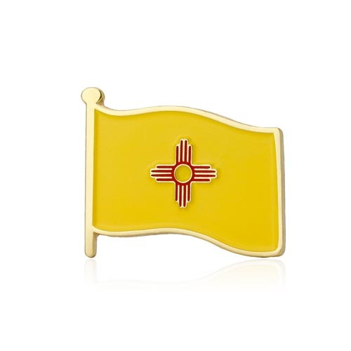 New Mexico American Flag Lapel Pin