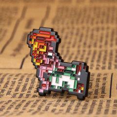 Mosaic Dog Lapel Pins