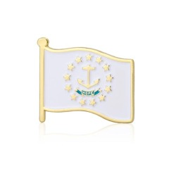 Rhode Island American Flag Lapel Pins