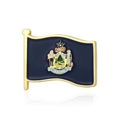 Maine American Flag Lapel Pin