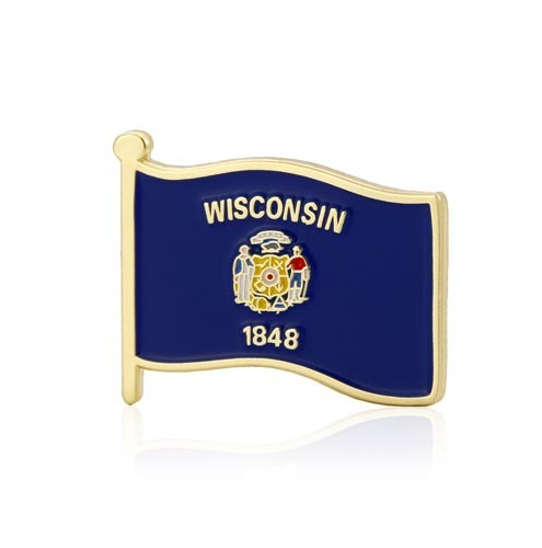 Wisconsin State Flag Pins